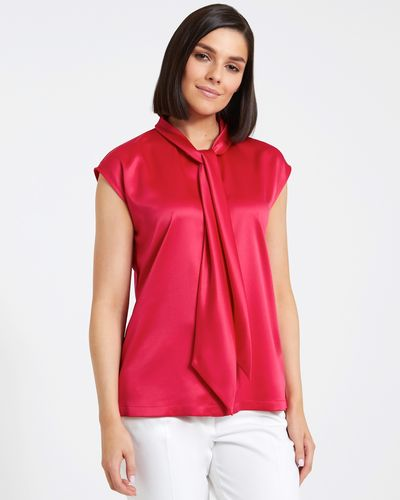 Paul Costelloe Living Studio Pink Tie Front Top