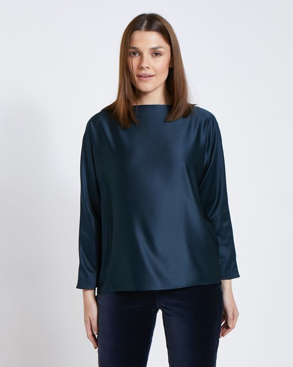 Paul Costelloe Living Studio Navy Batwing Top