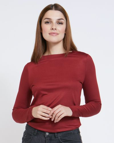 Paul Costelloe Living Studio Long-Sleeved Boat Neck Top thumbnail