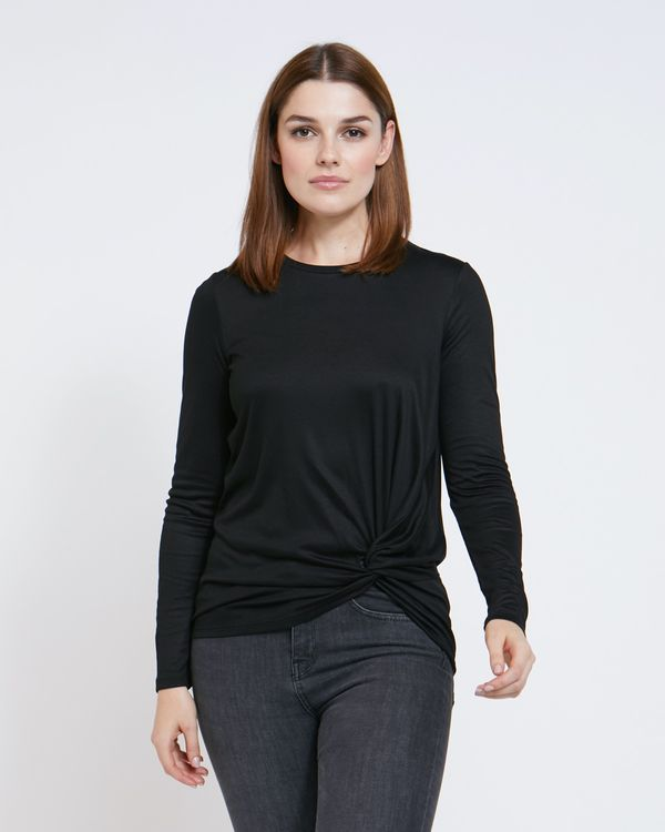 Paul Costelloe Living Studio Black Twist Front Top