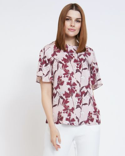 Paul Costelloe Living Studio Floral Flute Top