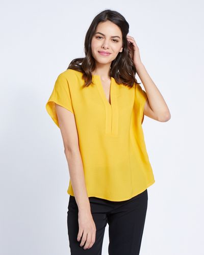Paul Costelloe Living Studio Ochre Half Placket Top