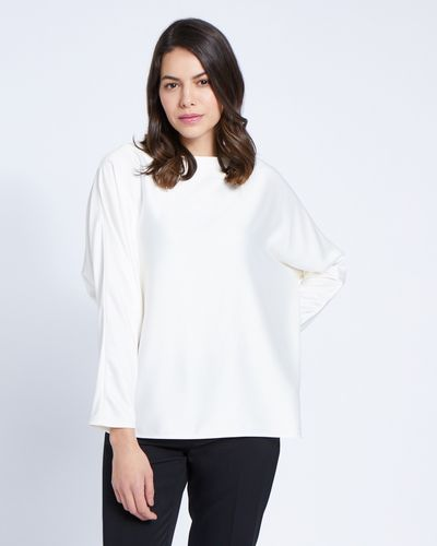 Paul Costelloe Living Studio Ivory Batwing Top thumbnail
