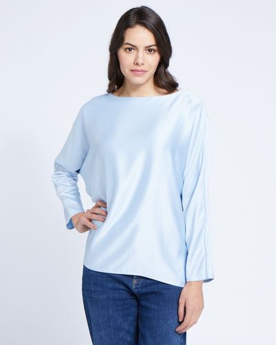 Paul Costelloe Living Studio Blue Batwing Top