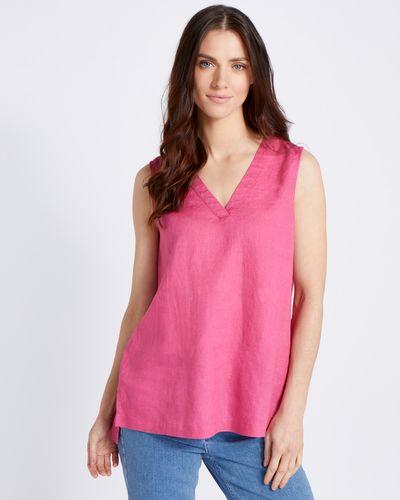 Paul Costelloe Living Studio Pink 100% Linen Vest