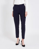 navy Paul Costelloe Living Studio Tapered Leg Trousers
