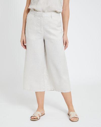 Paul Costelloe Living Studio Linen Stone Crop Trousers