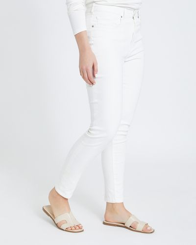 Paul Costelloe Living Studio Cream Denim Jeans