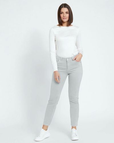 Paul Costelloe Living Studio Grey Mid Rise Trousers