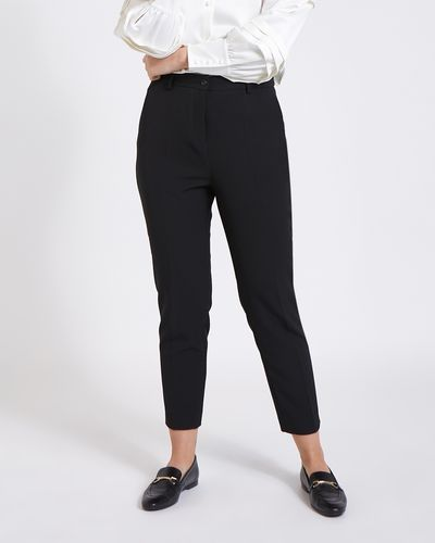 Paul Costelloe Living Studio Black Straight Leg Trousers thumbnail