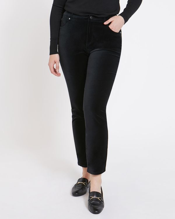 Paul Costelloe Living Studio Black Velvet Trousers