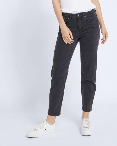 Paul Costelloe Living Studio Charcoal Straight Leg Denim Jeans