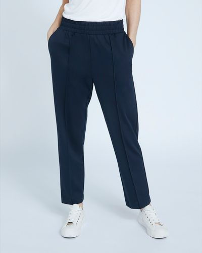 Paul Costelloe Living Studio Navy Relaxed Trousers