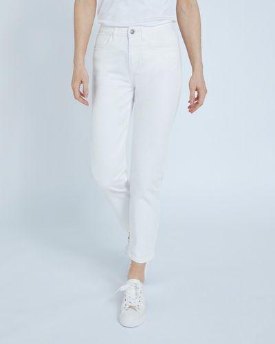 Paul Costelloe Living Studio Cream Straight Leg Denim Jeans