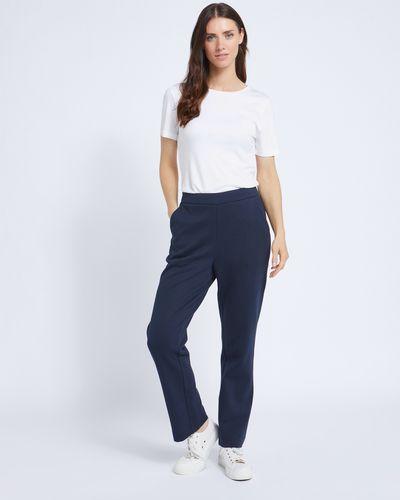 Paul Costelloe Living Studio Navy Cotton Blend Trouser