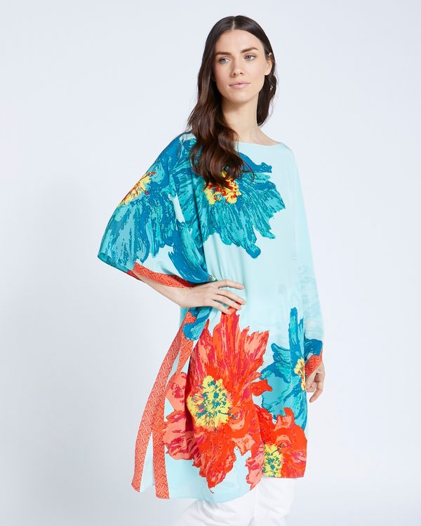 Paul Costelloe Living Studio 100% Silk Floral Kaftan