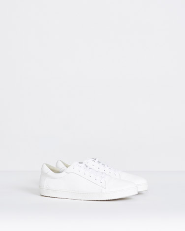 white Paul Costelloe Living Studio Classic Leather Sneakers