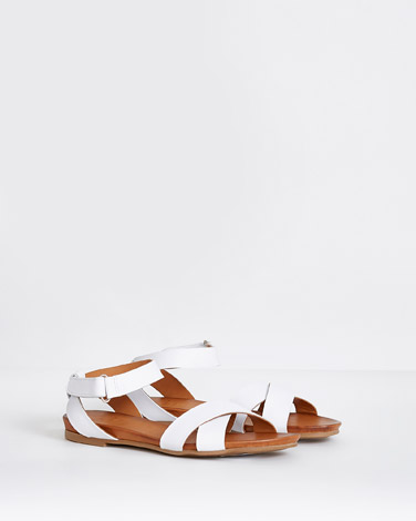 white Paul Costelloe Living Leather Sandals
