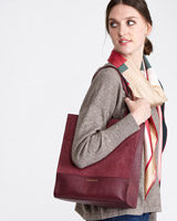 burgundy Paul Costelloe Living Studio Tote Bag