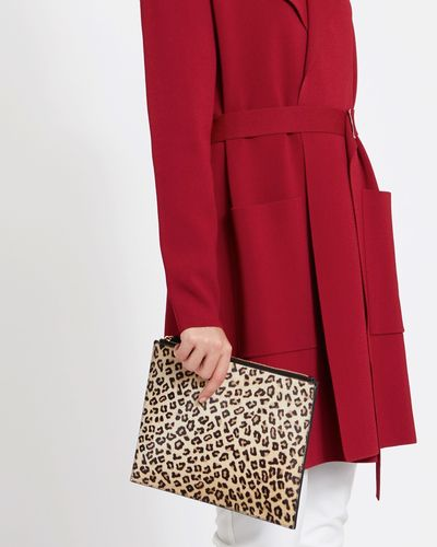 Paul Costelloe Living Studio Leopard Clutch Bag