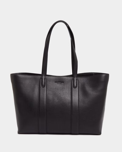 Paul Costelloe Living Studio Black Leather Shopper Tote