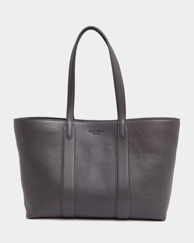 Paul Costelloe Living Studio Grey Leather Shopper Tote Bag thumbnail