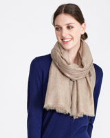 mink Paul Costelloe Living Studio Pure Cashmere Scarf