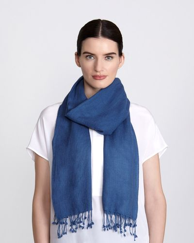 Paul Costelloe Living Studio Silk And Cashmere Scarf