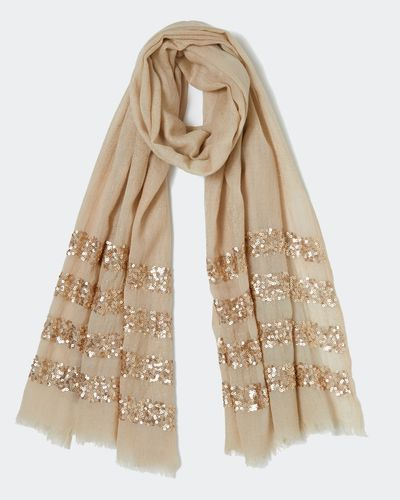 Paul Costelloe Living Studio Foil Print Scarf