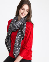 grey Paul Costelloe Living Studio Animal Print Scarf