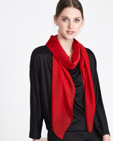 red Paul Costelloe Living Studio Plain Silk Scarf