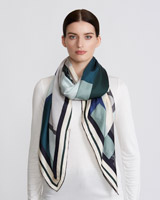 multi Paul Costelloe Living Studio Shapes Silk Scarf
