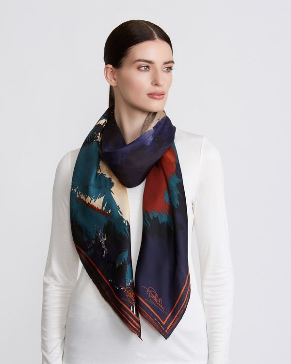 Paul Costelloe Living Studio Multi Floral Silk Scarf