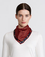 multi Paul Costelloe Living Studio Dots Border Scarf
