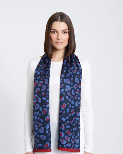 Paul Costelloe Living Studio Bordeaux Animal Scarf