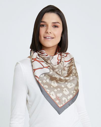 Paul Costelloe Living Studio Leopard Flower Scarf