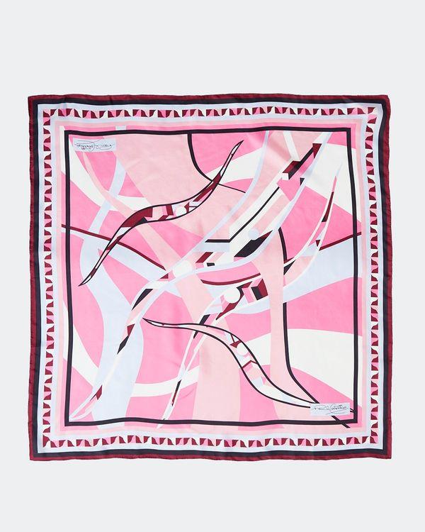 Paul Costelloe Living Studio Pink Swirl Silk Scarf