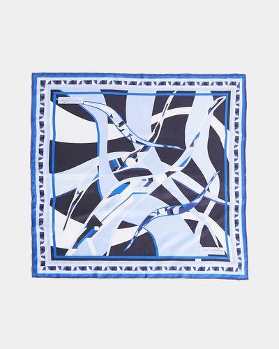 Paul Costelloe Living Studio Blue Swirl Silk Scarf