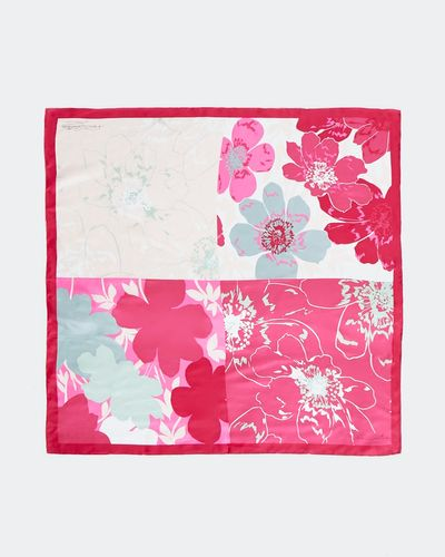 Paul Costelloe Living Studio Floral Squares Silk Scarf
