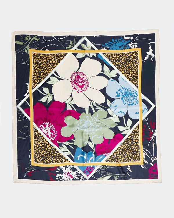 Paul Costelloe Living Studio Diamond Floral Silk Scarf