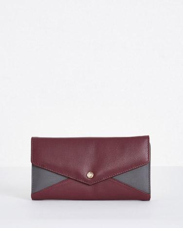 burgundyPaul Costelloe Living Studio Flap Wallet