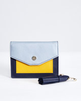 navy Paul Costelloe Living Studio Coin Wallet And Key Ring Set