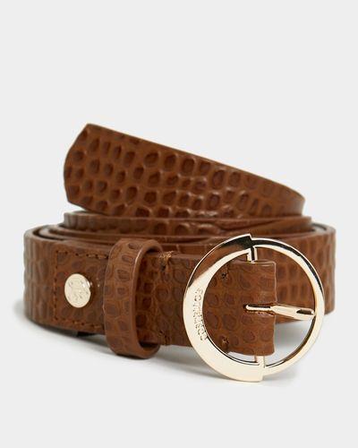 Paul Costelloe Living Studio Croc Leather Belt