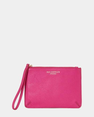 Paul Costelloe Living Studio Wristlet Bag Pink thumbnail