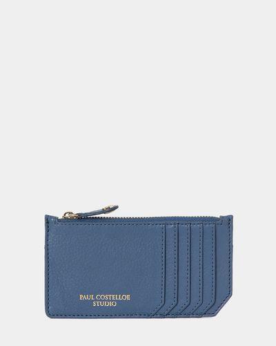 Paul Costelloe Living Studio Zip Card Holder Blue
