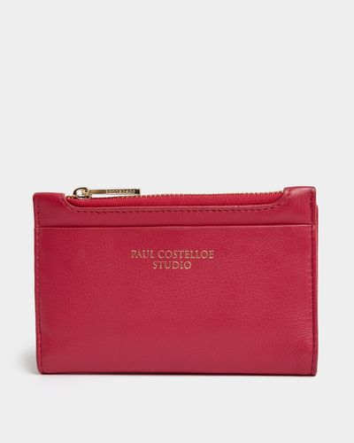 Paul Costelloe Living Studio Pink Leather Coin Purse thumbnail