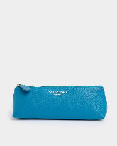 Paul Costelloe Living Studio Turquoise Leather Pencil Pouch thumbnail