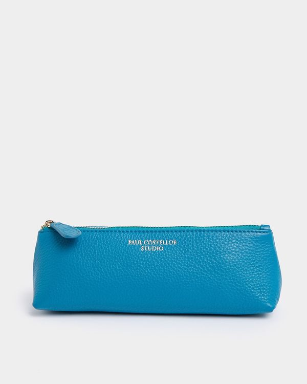 Paul Costelloe Living Studio Turquoise Leather Pencil Pouch