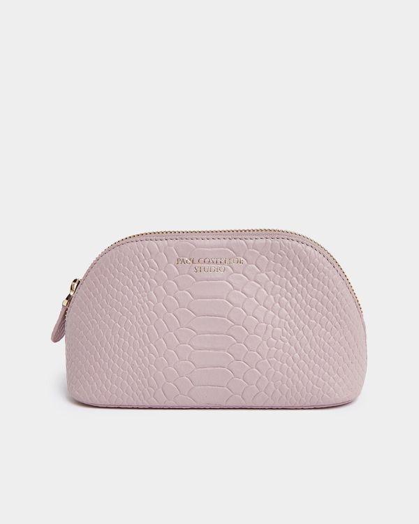 Paul Costelloe Living Studio Blush Leather Small Cosmetic Bag