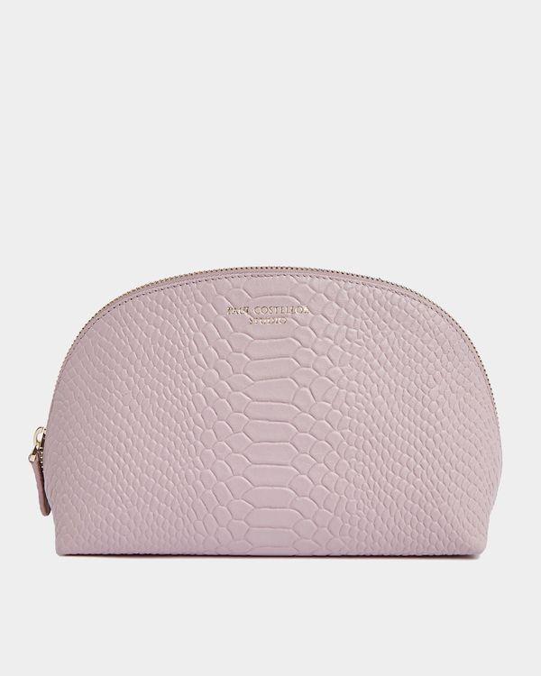 Paul Costelloe Living Studio Blush Leather Cosmetic Bag